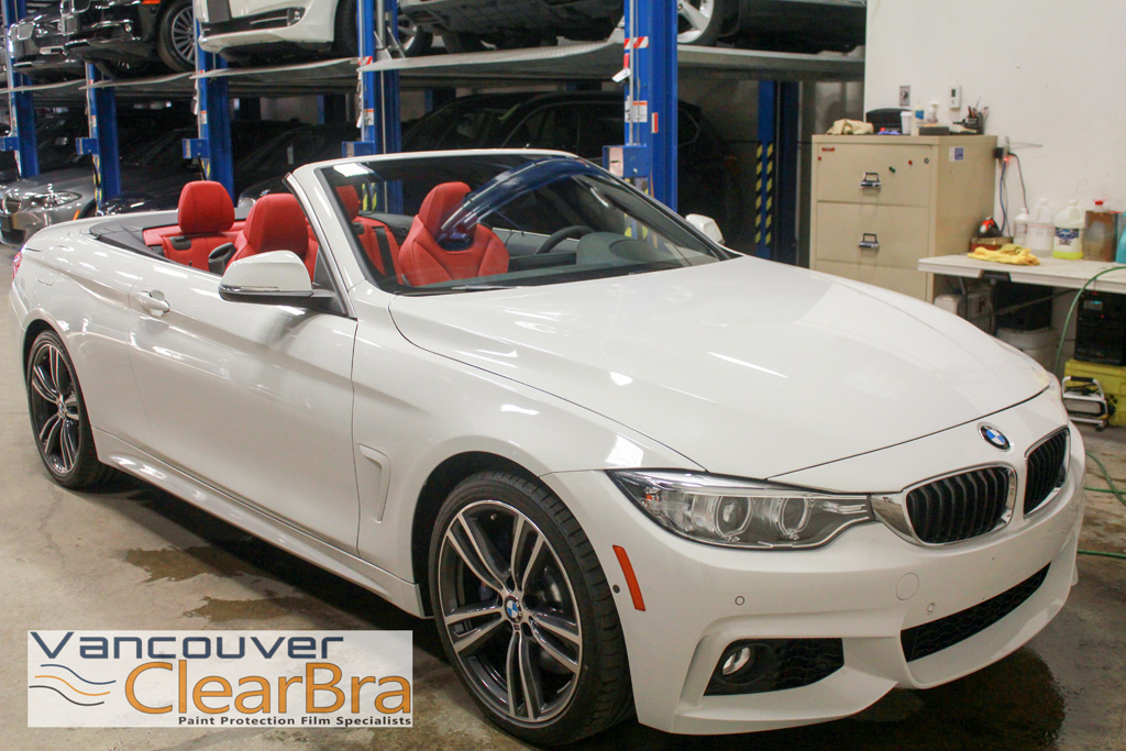 the bmw store 435i msport clear bra vancouver clearbra. Black Bedroom Furniture Sets. Home Design Ideas