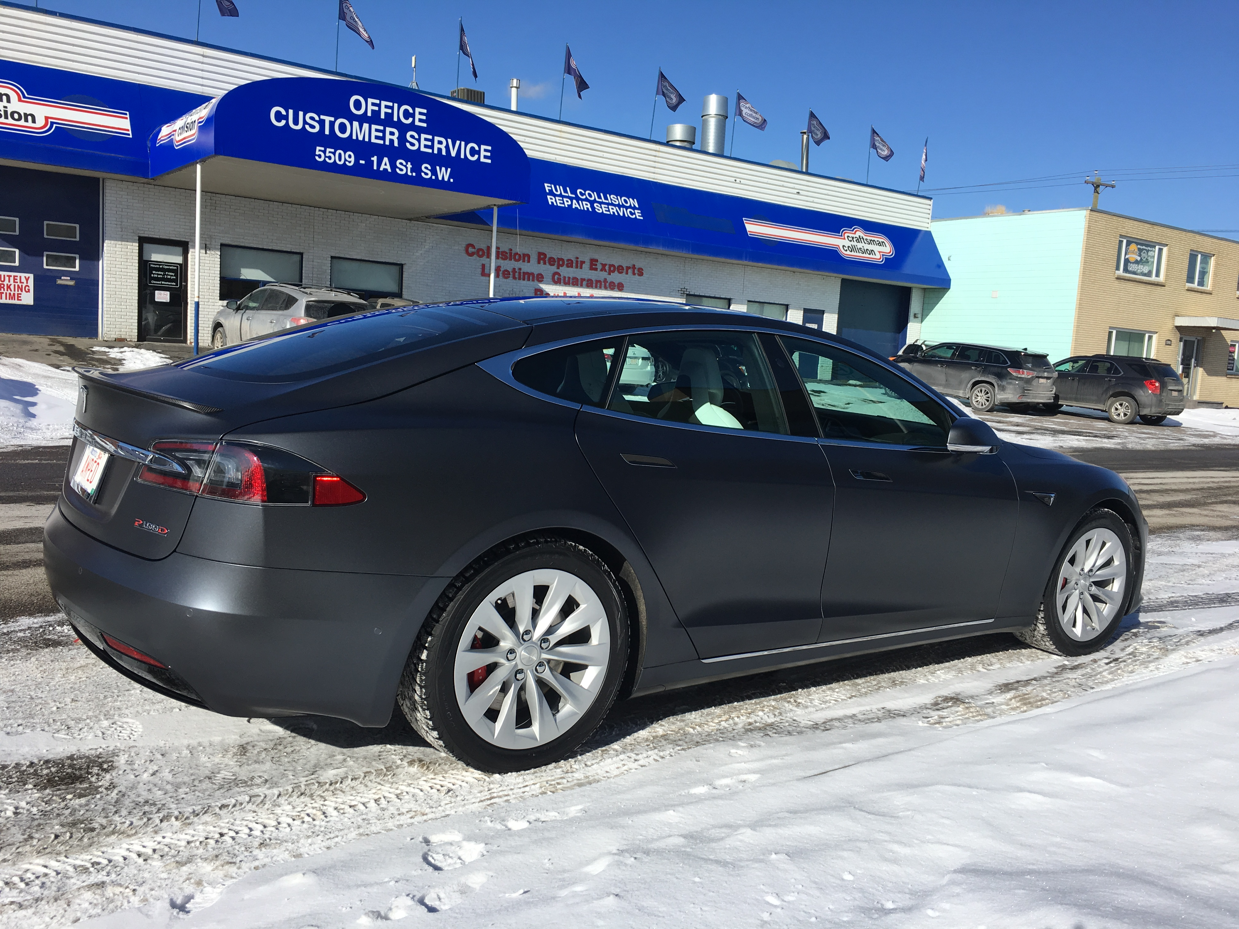 Tesla Halifax Clear Bra Xpel SunTek 3M Hexis - Halifax ClearBra